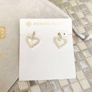 Kendra Scott Sophee heart Drop Earrings Gold